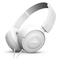 JBL T450 On Ear Headphones White JBLT450WHT