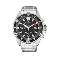 Citizen Eco Drive Stainless Steel Mens Watch Silver AT2430-80E