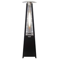 Gasmate Stellar Black Outdoor Pyramid Flame Heater FH200ODS